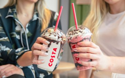 FROSTINO ICED DRINKS AT COSTA COFFEE